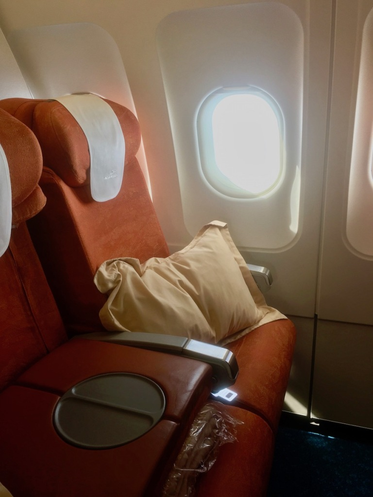 Business Class seat on A319 Air Mauritius