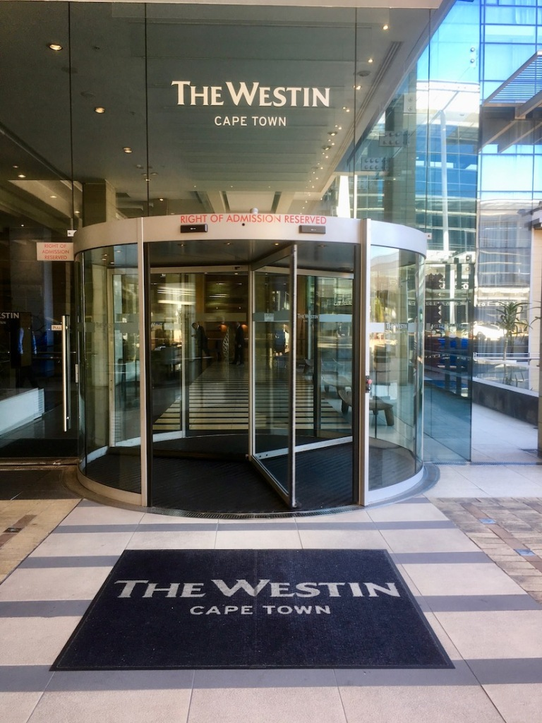 Entrance of The Westin Cape Town - the hotel is ideally located at the entrance of the historical city and a short walk from the Waterfront - Where to stay in Cape Town - Hotel in Cape Town
