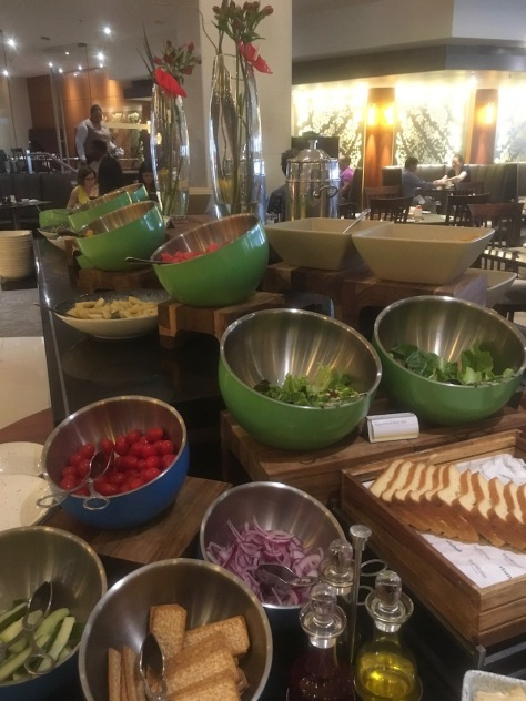 Salad Spread at the Breakfast buffet at The Westin Cape Town - Hotel in Cape Town