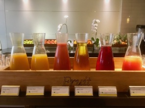Some of the Juices at Breakfast at Thirty7 - restaurant at The Westin Cape Town - Hotel in Cape Town