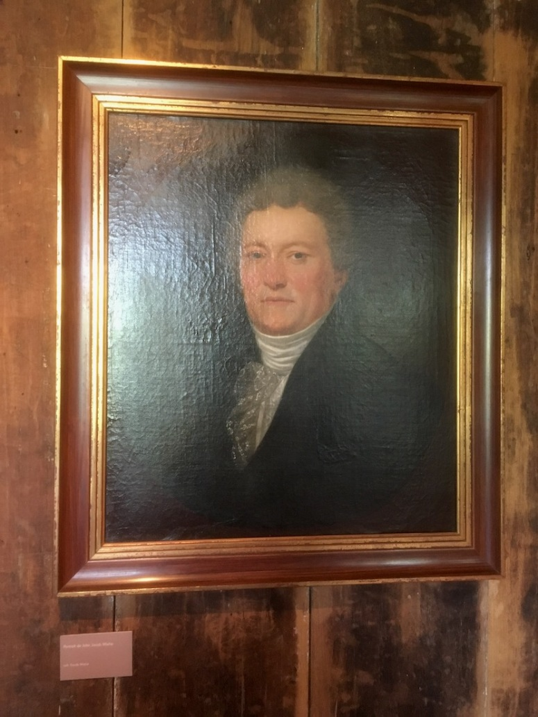 Portrait of J. J. Wiehe - Danish merchant who settled down in Mauritius - The portrait is hanging at Chateau de Labourdonnais in Mauritius - Cultural visits in Mauritius, Things to do in Mauritius - #Mauritius #history #travels