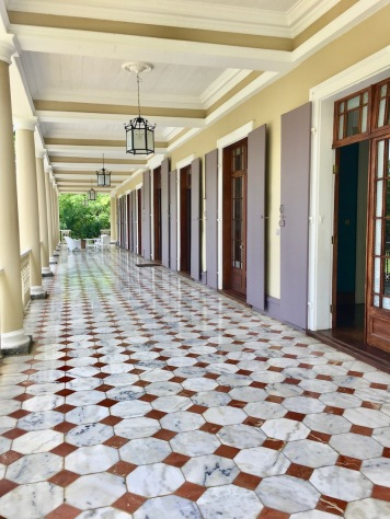 Downstairs Veranda at Chateau de Labourdonnais in Mauritius - Things to do in Mauritius