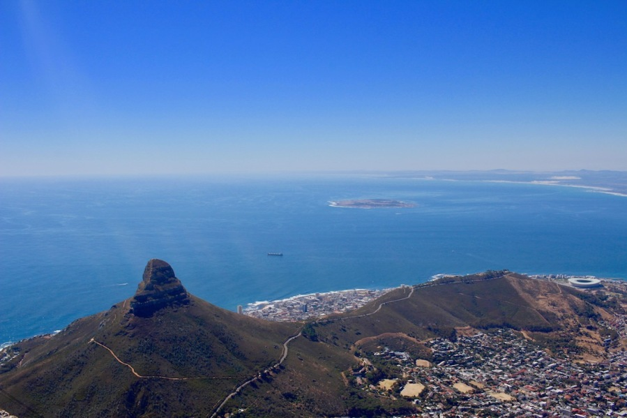 Lion's Head and Cape Town, view from Table Mountain - #tablemountain #capetown #southafrica