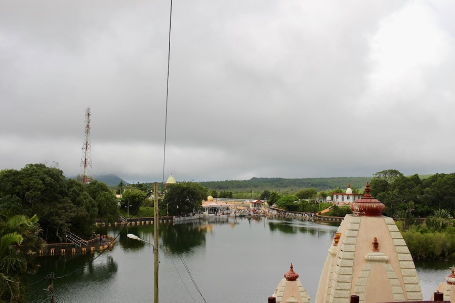 View of Ganga Talao, Grand Bassin - a large Hindu pilgrimage site in Mauritius