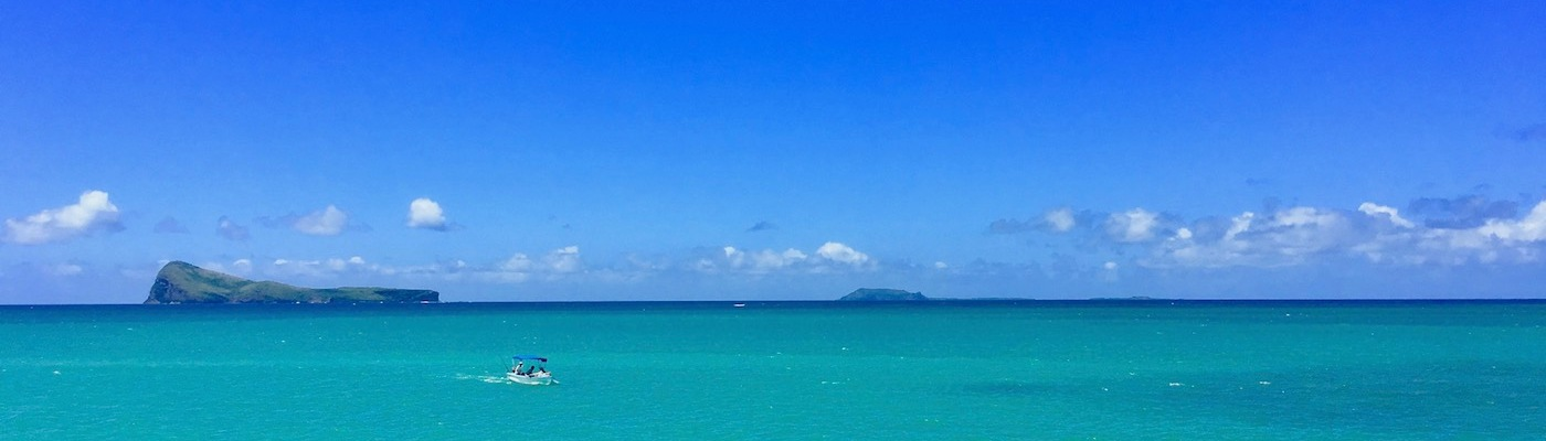 Gunner's Point in Mauritius - View from the Anse La Raie
