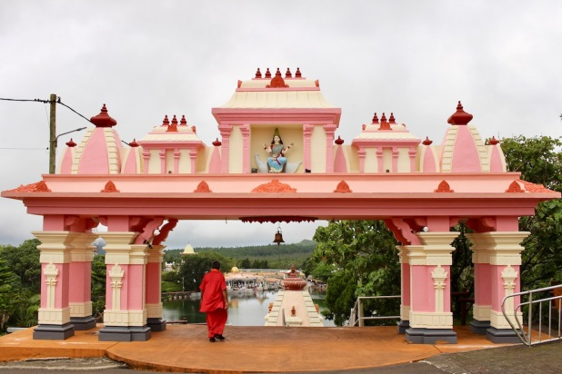 Entrance to Ganga Talao, a Hindu pilgrimage site in Mauritius - #Mauritius