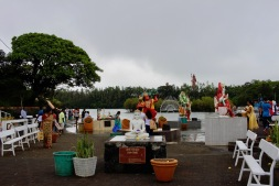 Statues at Ganga Talao - Hindu pilgrimage site in Mauritius