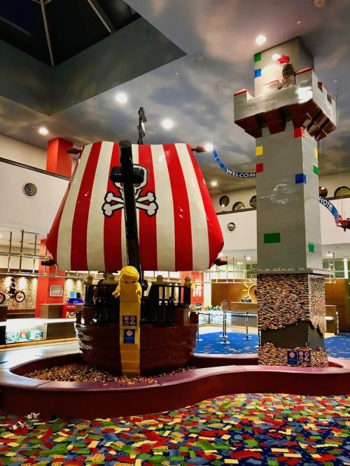 Lobby of Legoland Hotel Malaysia - Pirate Ship in Legoland Hotel Malaysia
