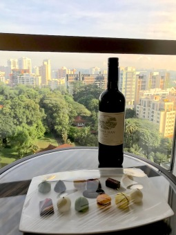 Wine and chocolates, In room amenities at Sheraton Towers, Singapore - where to stay in Singapore - Hotel review of Sheraton Towers Singapore