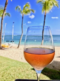 A glass of rose on the beach - Tides Restaurant - Sugar Beach Mauritius - Hotel in Mauritius
