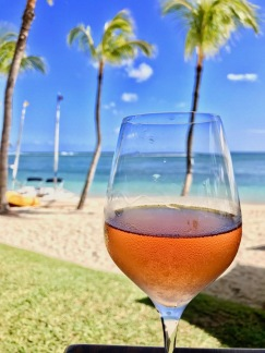A glass of rose on the beach - Tides Restaurant - Sugar Beach Mauritius - Hotel in Mauritius
