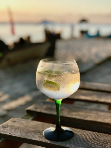 Drinks at Sugar Beach Mauritius - Sunset in Mauritius