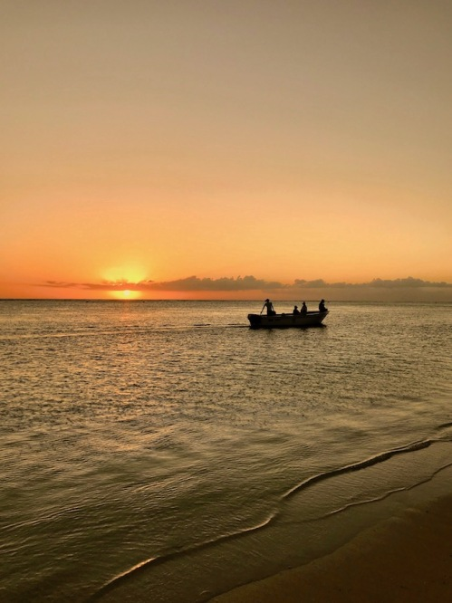 Fishermen boat at Sunset at the Sugar Beach Mauritius - Hotels in Mauritius - #Mauritius #Hotels in Mauritius #Things to do in Mauritius #Beach in Mauritius - #IleMaurice