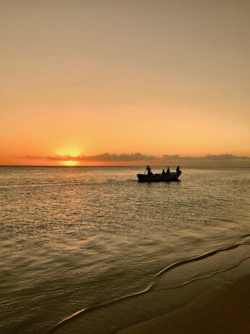 Fishermen boat at Sunset at the Sugar Beach Mauritius - Hotels in Mauritius - #Mauritius #Hotels in Mauritius #Things to do in Mauritius #Beach in Mauritius - #IleMaurice