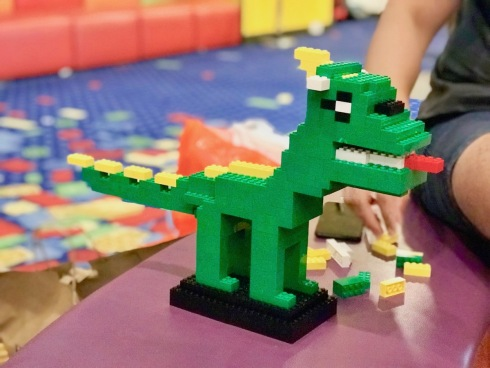 one of our dinosaurs - Legoland Hotel Malaysia