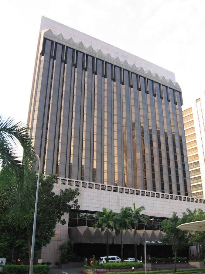 View of the facade of Sheraton Towers, Scotts Road, Singapore - Where to stay in Singapore