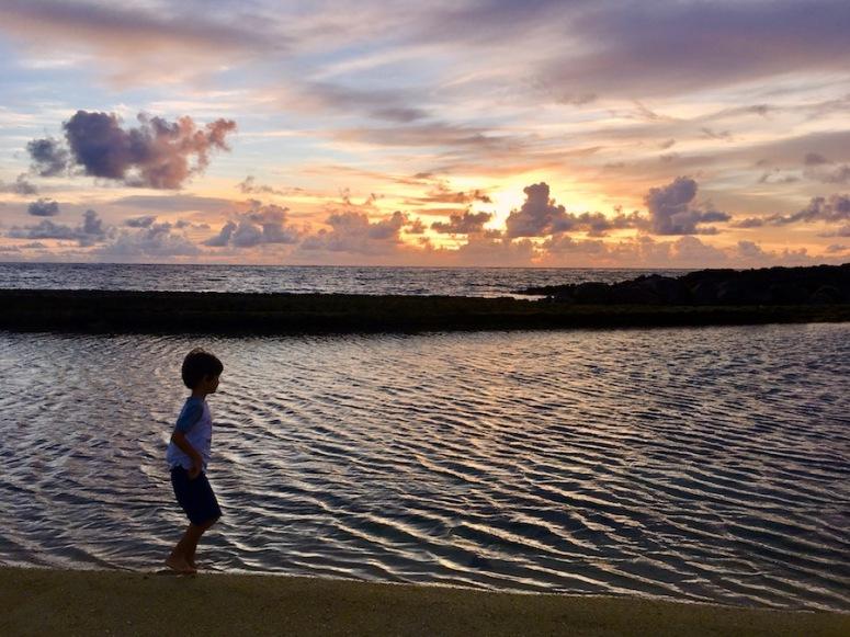 Winter time sunrise walk with kiddos 2 - East Coast of Mauritius