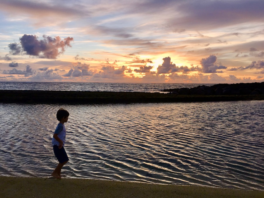 Winter time sunrise walk with kiddos 2 - East Coast of Mauritius